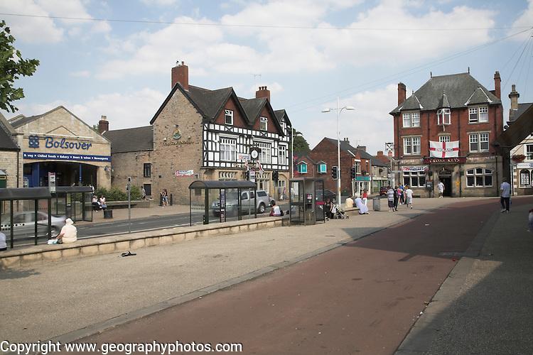 Bolsover town centre, Derbyshire, England
