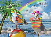 Lori, REALISTIC ANIMALS, REALISTISCHE TIERE, ANIMALES REALISTICOS, paintings+++++Gulls Just Wann Have Fun_5.5X7.5_72,USLS20,#A#, EVERYDAY ,puzzles