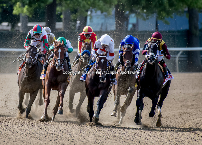 June 8, 2019 : #3, Mitole, ridden by jockey, Ricardo Santana, Jr., wins the Runhappy Metropolitan Stakes on Belmont Stakes Festival Saturday at Belmont Park in Elmont, New York. Dan Heary/Eclipse Sportswire/CSM