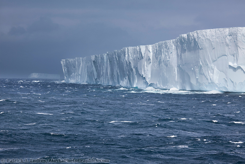 Large tabular iceberg in the southern ocean south of the South Orkney Islands.