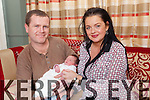Proud parents John and Stacey Heffernan from Abbeyfeale with miracle baby Orlagh who was born last Friday and delivered in the family car only 2 minutes from Kerry General Hospital.