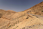 Israel, the Negev desert. The descend from Mount Avnon to the Large Crater