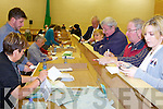 COUNTING: Tally people watch the first boxes being opened at the Count Centre in Killarney on Friday morning.