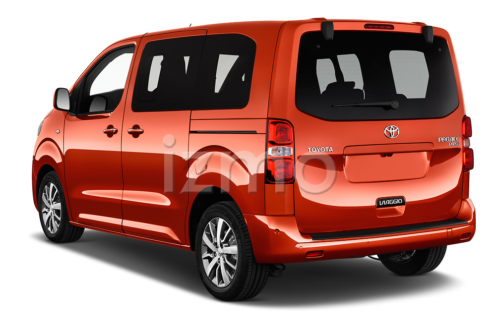 Car pictures of rear three quarter view of 2018 Toyota Proace-Verso Viaggio 5 Door Minivan Angular Rear