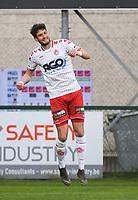 KV KORTRIJK - WAASLAND BEVEREN :<br /> Felipe Avenatti viert zijn openingsgoal<br /> <br /> Foto VDB / Bart Vandenbroucke