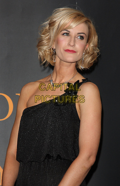 KATHERINE KELLY.Royal Television Society Programme Awards held at the Grosvenor House Hotel, Park Lane, London, England..March 16th, 2010.RTS half length one shoulder necklace  black .CAP/ROS.©Steve Ross/Capital Pictures.