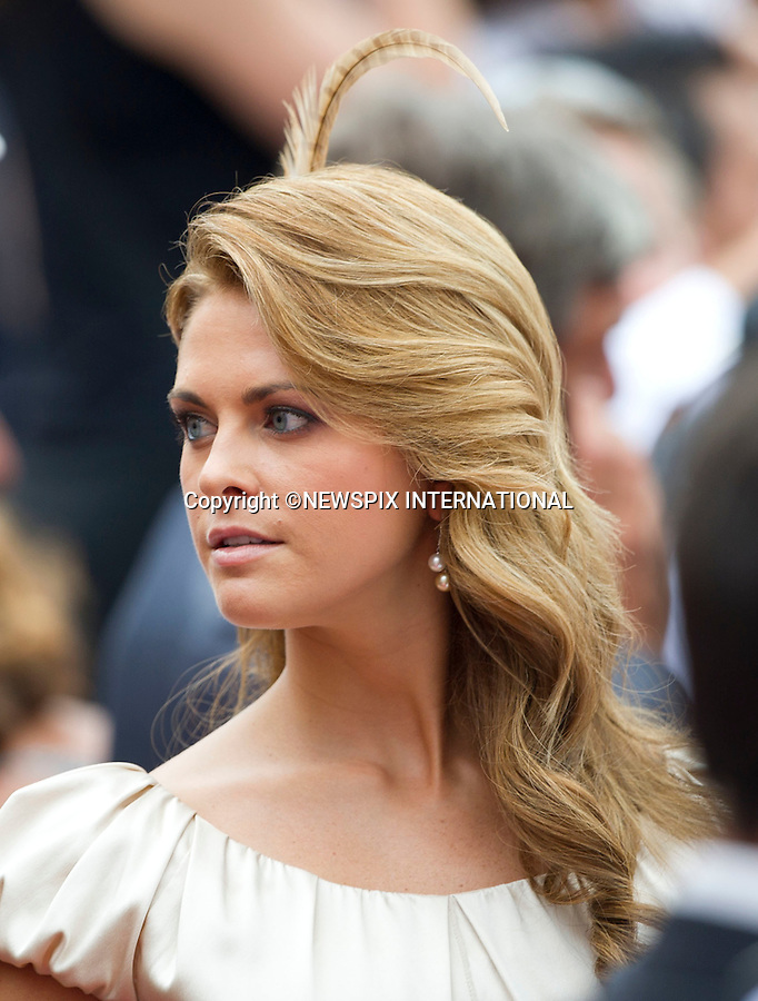 "MONACO ROYAL WEDDING .Princess Madeleine..Guests Arrive at the Religious wedding of H.S.H Prince Albert II and Miss Charlene Wittstock in the Prince's Palace._Prince's Palace Monaco 01/07/2011..Mandatory Photo Credit: ©Dias/Newspix International..**ALL FEES PAYABLE TO: ""NEWSPIX INTERNATIONAL""**..PHOTO CREDIT MANDATORY!!: NEWSPIX INTERNATIONAL(Failure to credit will incur a surcharge of 100% of reproduction fees)..IMMEDIATE CONFIRMATION OF USAGE REQUIRED:.Newspix International, 31 Chinnery Hill, Bishop's Stortford, ENGLAND CM23 3PS.Tel:+441279 324672  ; Fax: +441279656877.Mobile:  0777568 1153.e-mail: info@newspixinternational.co.uk"