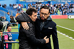Getafe CF's coach Jose Bordalas and Real Sociedad's coach Asier Garitano during La Liga match between Getafe CF and Real Sociedad at Coliseum Alfonso Perez in Getafe, Spain. December 15, 2018. (ALTERPHOTOS/A. Perez Meca)