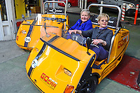 Estelle Bromilow & Hazel Patterson, Go-Cars, San Francisco, California, USA, 201304131341<br /> <br /> Copyright Image from Victor Patterson, 54 Dorchester Park, Belfast, UK, BT9 6RJ<br /> <br /> Tel: +44 28 9066 1296<br /> Mob: +44 7802 353836<br /> Voicemail +44 20 8816 7153<br /> Skype: victorpattersonbelfast<br /> Email: victorpatterson@me.com<br /> Email: victorpatterson@ireland.com (back-up)<br /> <br /> IMPORTANT: If you wish to use this image or any other of my images please go to www.victorpatterson.com and click on the Terms & Conditions. Then contact me by email or phone with the reference number(s) of the image(s) concerned.
