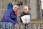 Tralee camerman Rory Kirby of Road Sign Media with Listowel native Joe Murphy, who will have their documentary aired this St Patrick's Day on TG4, pictured here last Tuesday in St John's Theatre, Listowel.