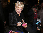 Bette Midler and RadioMan attend the Off-Broadway opening Night Performance After Party for 'Billy & Ray' at the Vineyard Theatre on October 20, 2014 in New York City.