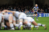 Nick Abendanon watches a scrum. Amlin Challenge Cup quarter-final, between Bath Rugby and CA Brive on April 6, 2014 at the Recreation Ground in Bath, England. Photo by: Patrick Khachfe / Onside Images