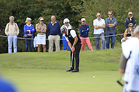 Darren Clarke (NIR) on the 8th green during Round 2 of the KLM Open at Kennemer Golf &amp; Country Club on Friday 12th September 2014.<br /> Picture:  Thos Caffrey / www.golffile