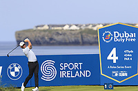 Thomas Pieters (BEL) tees off the 4th tee during Thursday's Round 1 of the Dubai Duty Free Irish Open 2019, held at Lahinch Golf Club, Lahinch, Ireland. 4th July 2019.<br /> Picture: Eoin Clarke | Golffile<br /> <br /> <br /> All photos usage must carry mandatory copyright credit (© Golffile | Eoin Clarke)