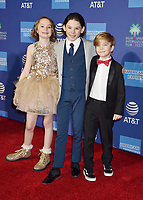 PALM SPRINGS, CA - JANUARY 03: (L-R) Pixie Davies, Nathanael Saleh and Joel Dawson attend the 30th Annual Palm Springs International Film Festival Film Awards Gala at Palm Springs Convention Center on January 3, 2019 in Palm Springs, California.<br /> CAP/ROT/TM<br /> &copy;TM/ROT/Capital Pictures