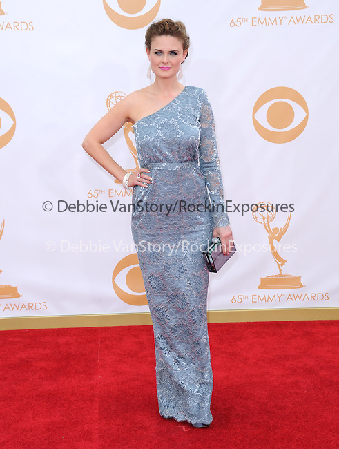 Emily Deschanel attends 65th Annual Primetime Emmy Awards - Arrivals held at The Nokia Theatre L.A. Live in Los Angeles, California on September 22,2012                                                                               © 2013 DVS / Hollywood Press Agency