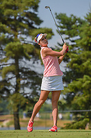Lexi Thompson (USA) watches her tee shot on 3 during round 3 of the 2018 KPMG Women's PGA Championship, Kemper Lakes Golf Club, at Kildeer, Illinois, USA. 6/30/2018.<br /> Picture: Golffile | Ken Murray<br /> <br /> All photo usage must carry mandatory copyright credit (&copy; Golffile | Ken Murray)