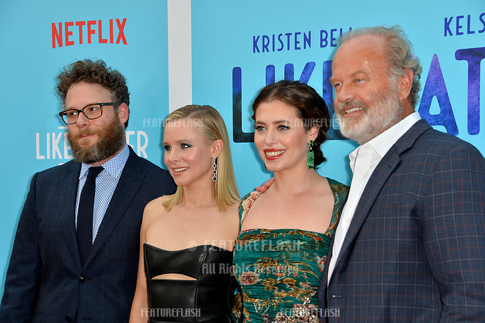 Seth Rogen, Kristen Bell, Lauren Miller Rogen &amp; Kelsey Grammer at the Los Angeles premiere of &quot;Like Father&quot; at the Arclight Theatre, Los Angeles, USA 31 July 2018<br /> Picture: Paul Smith/Featureflash/SilverHub 0208 004 5359 sales@silverhubmedia.com