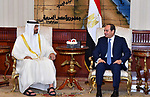 Egyptian President Abdel Fattah al-Sis meets with Abu Dhabi Crown Prince Sheikh Mohammed bin Zayed al-Nahyan after he arrives, in Cairo, Egypt on June 19, 2017. Photo by Egyptian President Office