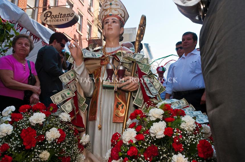 New York, NY -  18 September 2010 Statue of the Saint of San Gennaro
