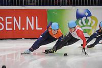 SHORT TRACK: DORDRECHT: Sportboulevard, 13-02-2016, ISU World Cup Short Track Final 2015/2016, Dennis Visser (#178), ©photo Martin de Jong