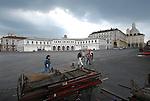 La piazza del mercato a Porta Palazzo. The Porta Palazzo market square.