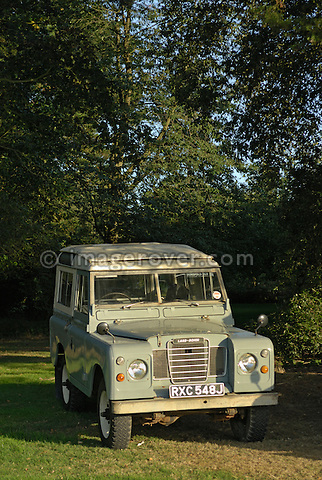 Historic Land Rover Series 3 SWB Station Wagon. Exhibited at the Dunsfold Collection Open Day 2006, Dunsfold, England, UK. --- No releases available. Automotive trademarks are the proper, authorization may be needed for some uses.