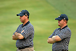 USA Team players Boo Weekley and J.B. Holmes watch their opponents on the 16th hole during the Afternoon Fourball on Day 2 of the Ryder Cup at Valhalla Golf Club, Louisville, Kentucky, USA, 20th September 2008 (Photo by Eoin Clarke/GOLFFILE)