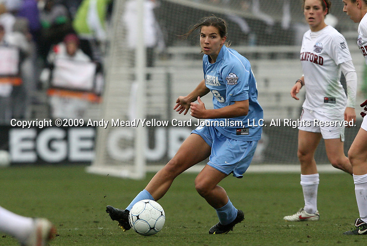 06 December 2009: North Carolina's Tobin Heath. The University of North Carolina Tar Heels defeated the Stanford University Cardinal 1-0 at Aggie Soccer Stadium in College Station, Texas in the NCAA Division I Women's College Cup Championship game.