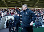 Chris Wilder manager of Sheffield Utd greets the fans pre match during the English League One match at Sixfields Stadium Stadium, Northampton. Picture date: April 8th 2017. Pic credit should read: Simon Bellis/Sportimage