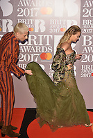 Rita Ora and Kyle De'Volle<br /> The Brit Awards at the o2 Arena, Greenwich, London, England on February 22, 2017.<br /> CAP/PL<br /> &copy;Phil Loftus/Capital Pictures /MediaPunch ***NORTH AND SOUTH AMERICAS ONLY***