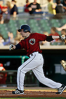 May 31 2009: Gabriel Suarez of the Lancaster JetHawks during game against the Modesto Nuts at Clear Channel Stadium in Lancaster,CA.  Photo by Larry Goren/Four Seam Images
