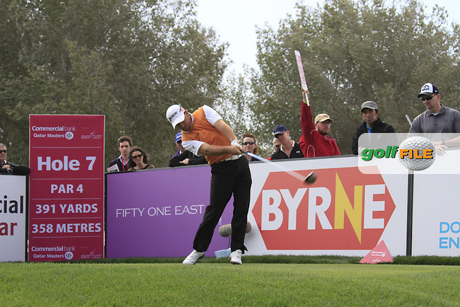 Graeme McDowell (NIR) tees off on the 7th tee during Saturday's Round 2 of the 2012 Commercialbank Qatar Masters presented by Dolphin Energy at Doha Golf Club, Qatar, 4th February 2012 (Photo Eoin Clarke/www.golffile.ie)