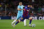 UEFA Champions League 2019/2020.<br /> Matchday 4.<br /> FC Barcelona vs SK Slavia Praha: 0-0.<br /> Nicolae Stanciu vs Lionel Messi.
