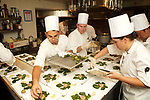 New York, NY - September 26, 2017: Chef Jared Sippel and the team from Italienne prepare a French/Italian dinner at the James Beard House. <br /> <br /> Credit: Clay Williams for The James Beard Foundation.<br /> <br /> &copy; Clay Williams / http://claywilliamsphoto.com