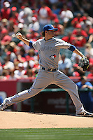 05/06/12 Anaheim, CA: Toronto Blue Jays relief pitcher Drew Hutchison #36 during an MLB game against the Toronto Blue Jays played at Angel stadium. The Angels defeated the Blue Jays 4-3