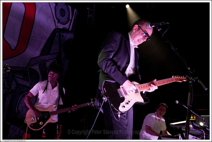 Leo 'E-Zee Kill' Williams, Mick Jones &amp; Dan Donovan -<br /> <br /> Big Audio Dynamite perform at the Shepherds Bush Empire on the 2nd April 2011