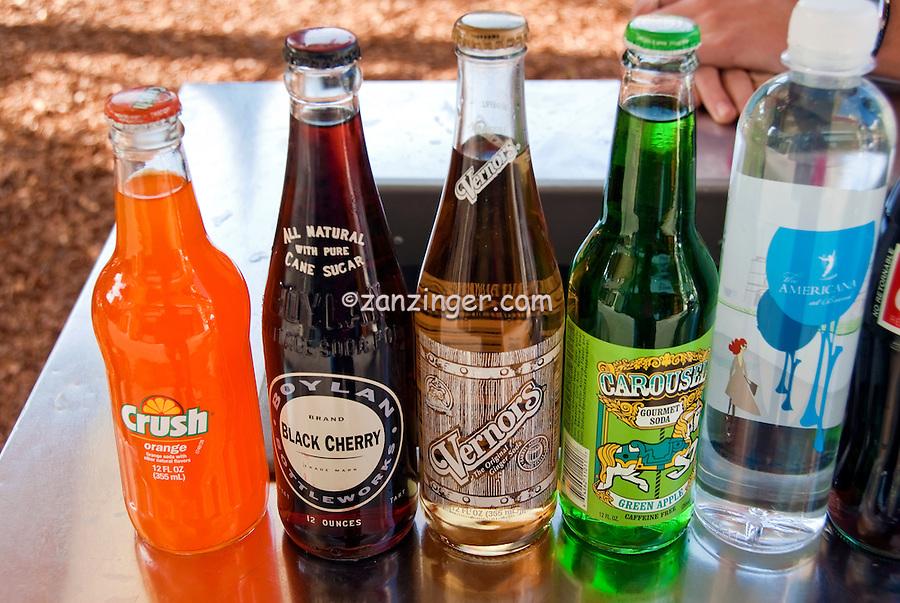 Vintage Soda Bottle Brands, Labels,  Pop and Soft Drinks,1950's, Crush, Vernors, Carousel
