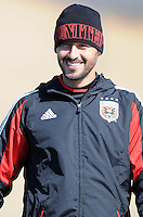 D.C. United midfielder Branko Boskovic (8) During the first training session after returning from Arizona, at Long Bridge Park in Arlington Virginia, Monday February 20, 2012.