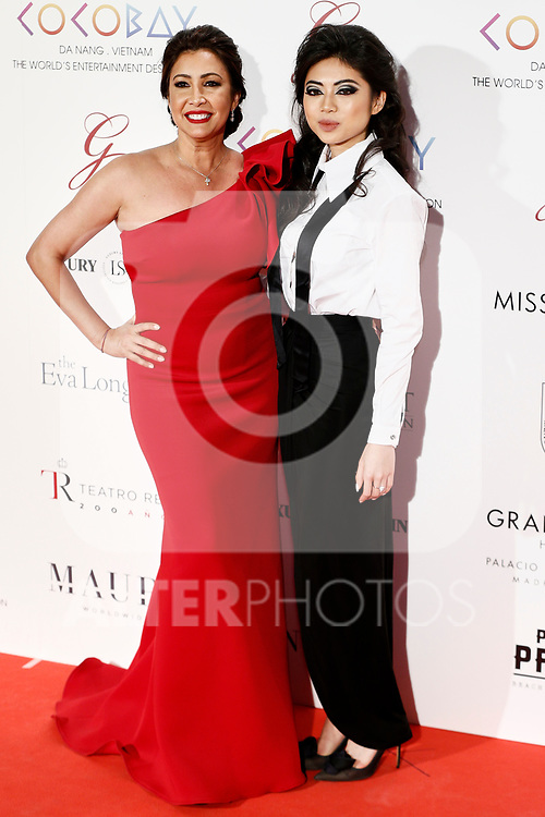 Maria Bravo and Coco Tran attends the photocall of the second Global Gift gala at the Royal Theater in Madrid, Spain. April 04, 2017. (ALTERPHOTOS / Rodrigo Jimenez)