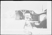 RGS Goose #5 stopped southbound in snowshed at Lizard Head section house.<br /> RGS  Lizard Head, CO  Taken by Triplett, Bruce - 11/1941