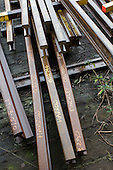 Replacement rails ready for dispatch in the Points and Crossings Shed of London Underground's  Lillie Road Depot.  The depot produces replacement track for the tube network and offers a same day service for 'urgencies and emergencies'.  The depot is now run by London Underground following the collapse of PPP contractor Metronet in 2007.