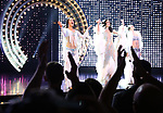 Teal Wicks, Stephanie J. Block and Micaela Diamond during the Pre-Broadway Premiere Opening Night Curtain Call for 'The Cher Show' at the Oriental Theatre on June 28, 2018 in Chicago.