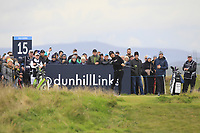 Jeunghun  Wang (KOR) on the 15th tee during Round 4 of the Alfred Dunhill Links Championship 2019 at St. Andrews Golf CLub, Fife, Scotland. 29/09/2019.<br /> Picture Thos Caffrey / Golffile.ie<br /> <br /> All photo usage must carry mandatory copyright credit (© Golffile | Thos Caffrey)