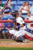 Binghamton Mets catcher Colton Plaia (26) during a game against the Trenton Thunder on May 29, 2016 at NYSEG Stadium in Binghamton, New York.  Trenton defeated Binghamton 2-0.  (Mike Janes/Four Seam Images)