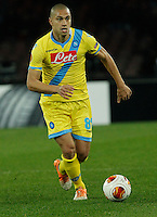 Gokhan Inler <br /> <br />  UEFA Europa League round of 32 second  leg match, betweenAC  Napoli  and Swansea City   at San Paolo stadium in Naples, Feburary 27 , 2014