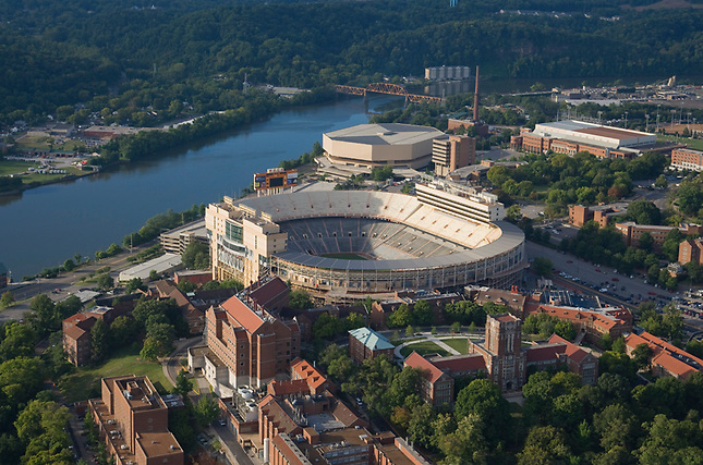 UTK campus and stadium on Tennessee River