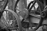 Detail of an old well drilling machine, Fort Rock, Oregon