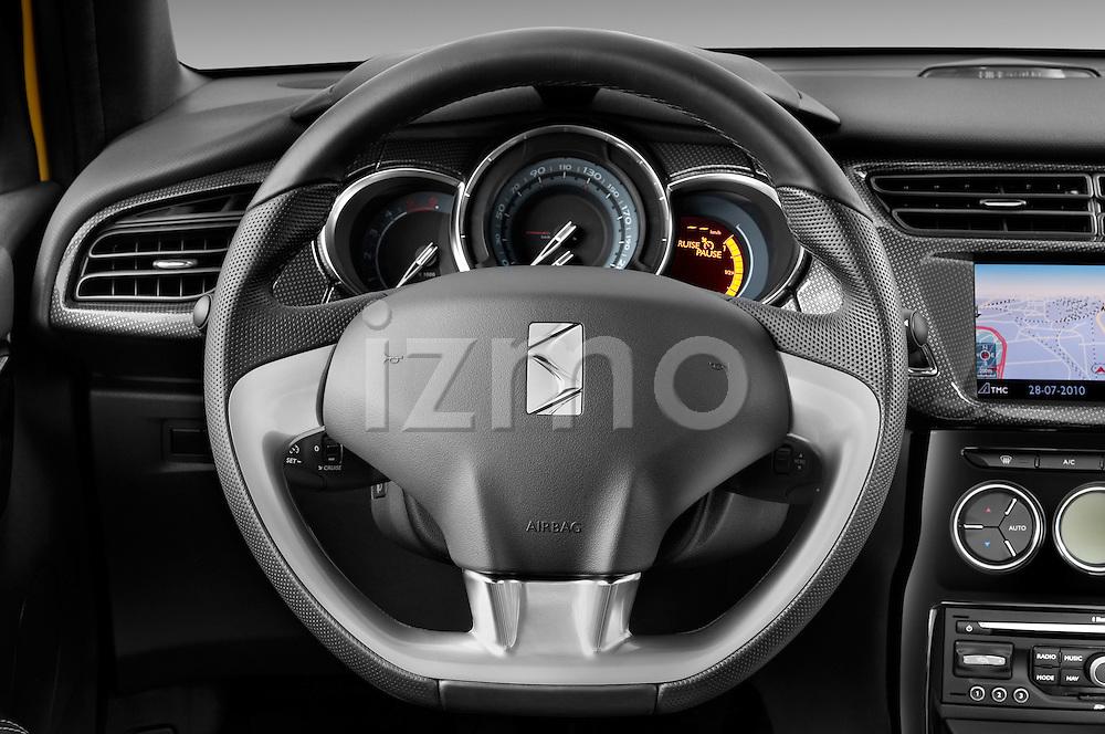 Steering wheel view of a 2013 Citroen DS3 Sport Chic 3 Door Hatchback 2WD