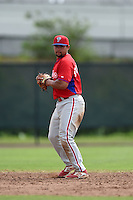 Philadelphia Phillies Drew Stankiewicz (5) during a minor league spring training intrasquad game on March 27, 2015 at the Carpenter Complex in Clearwater, Florida.  (Mike Janes/Four Seam Images)